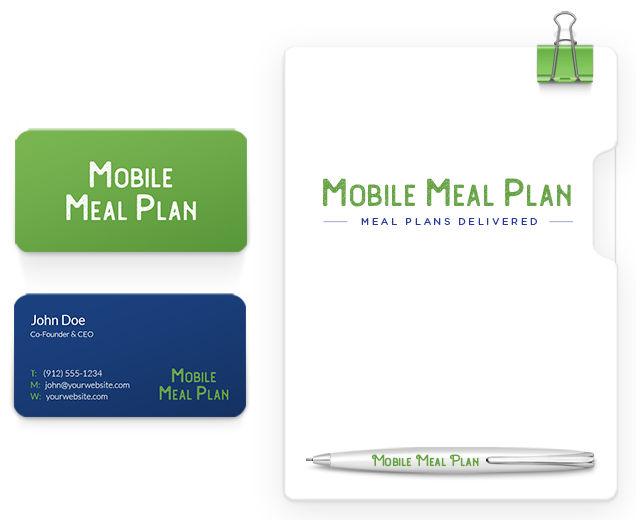 marketing materials for a meal plan company